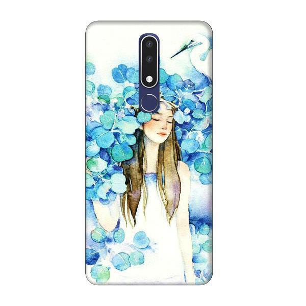 Ốp Lưng Dành Cho Điện Thoại Nokia 3.1 Plus - Cô Gái Lá Xanh