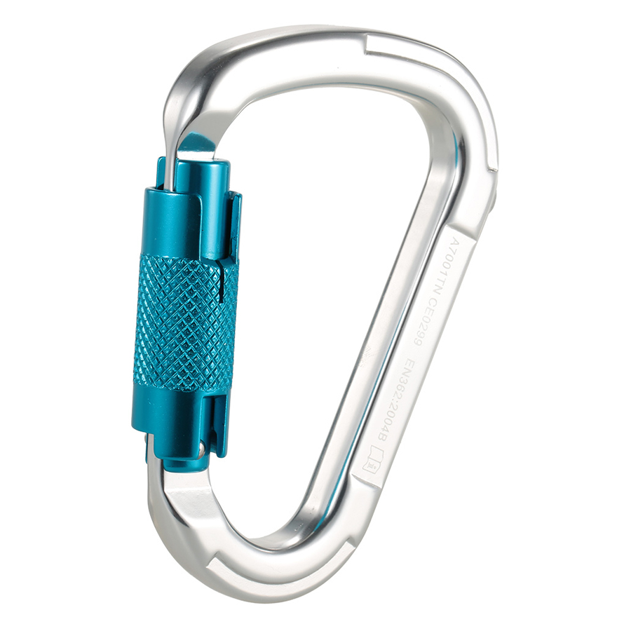25kN Professional Safety D Buckle Autolock Self Locking Aluminum Alloy Carabiner for Outdoor Survival Mountaineering