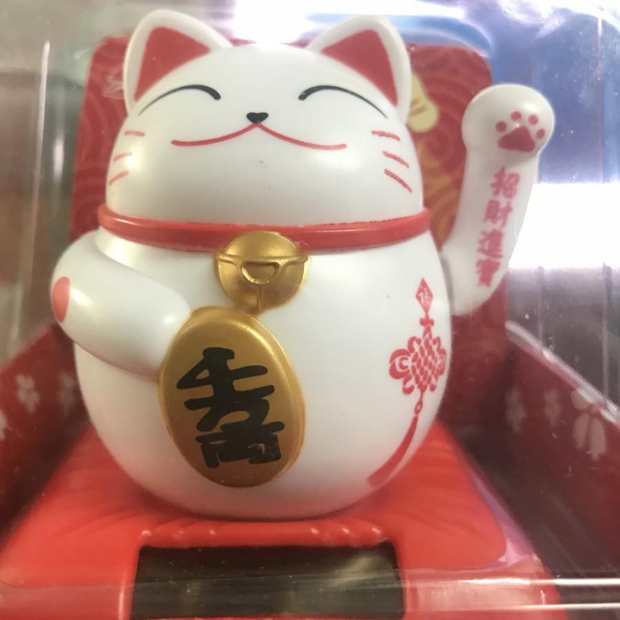 Mèo Thần Tài Vẫy Tay Đứng (Năng Lượng Ánh Sáng)