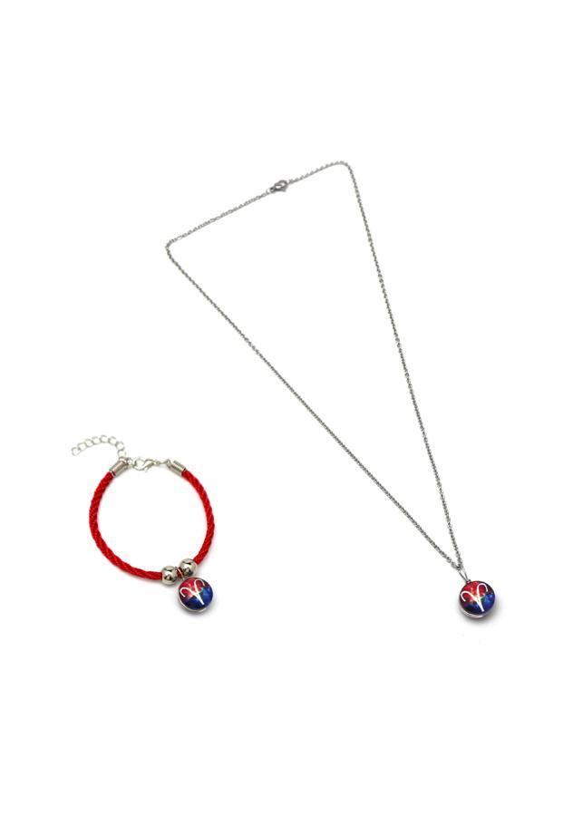 Set dây chuyền và vòng tay 12 cung hoàng đạo - Cung Bạch Dương - VTS0003