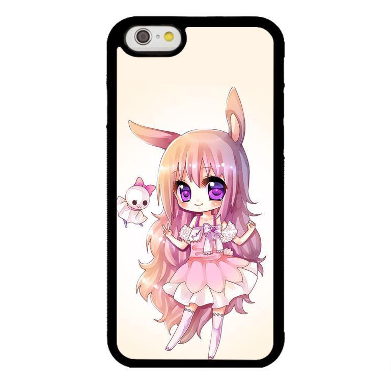 Ốp lưng dành cho điện thoại Iphone 6 Cô Gái Tai Thỏ