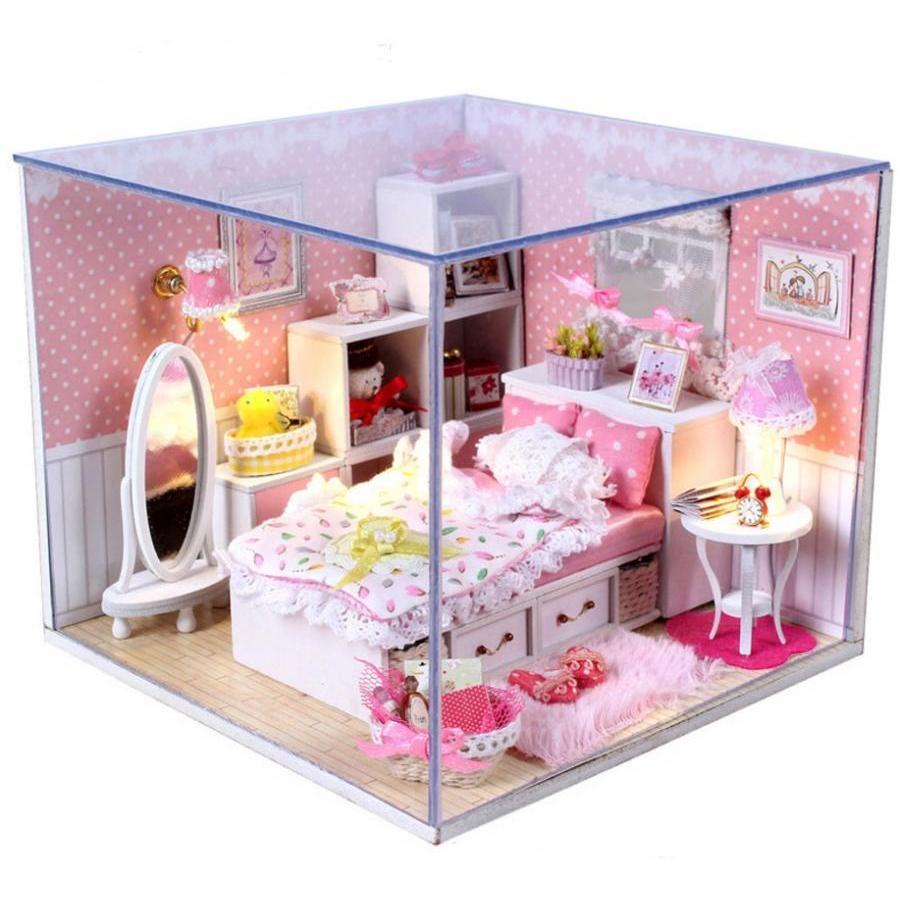 Mô hình nhà búp bê gỗ DIY - phòng ngủ màu hồng công chúa có gương lớn - 975617 , 6126900955012 , 62_2416065 , 350000 , Mo-hinh-nha-bup-be-go-DIY-phong-ngu-mau-hong-cong-chua-co-guong-lon-62_2416065 , tiki.vn , Mô hình nhà búp bê gỗ DIY - phòng ngủ màu hồng công chúa có gương lớn