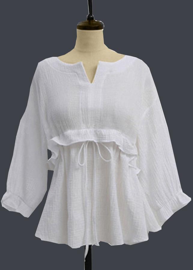 Áo kiểu nữ trắng xinh xắn tay lỡ Morie Fashion (Bánh bèo điệu đà) - 4964318 , 6444652477263 , 62_13758072 , 299000 , Ao-kieu-nu-trang-xinh-xan-tay-lo-Morie-Fashion-Banh-beo-dieu-da-62_13758072 , tiki.vn , Áo kiểu nữ trắng xinh xắn tay lỡ Morie Fashion (Bánh bèo điệu đà)
