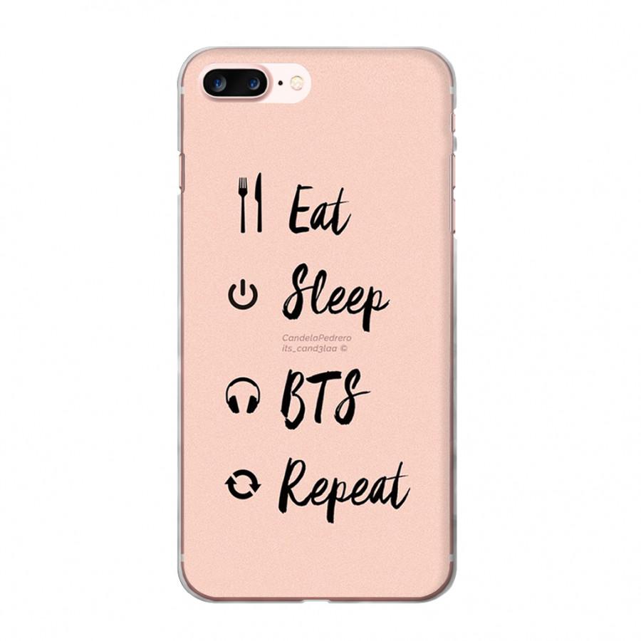 Ốp lưng cho iPhone 7 Plus  BTS in theo chất liệu - Hàng chính hãng