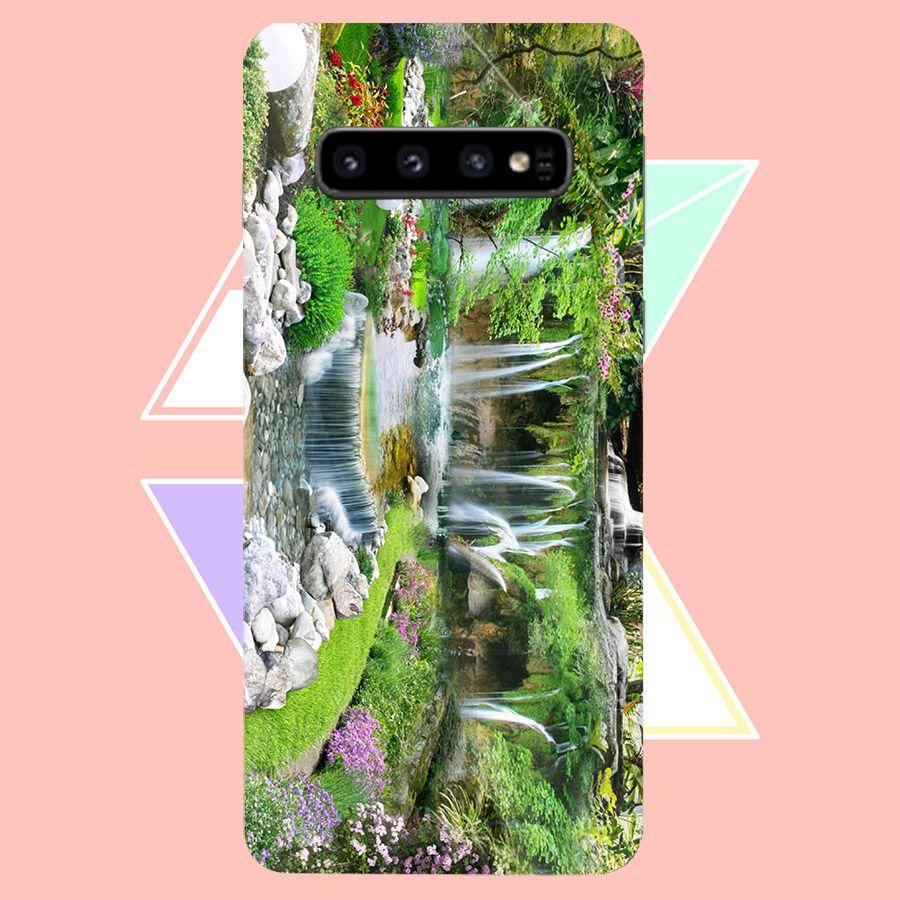 Ốp kính cường lực cho điện thoại Samsung Galaxy S10 - Vườn Hoa MS VHOA063 - Hàng Chính Hãng
