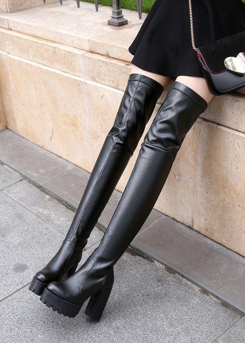 Boot ống cao ngang đùi gót vuông 12cm CHẮC CHÂN GCC6101 - 16239220 , 2753224255050 , 62_25098186 , 720000 , Boot-ong-cao-ngang-dui-got-vuong-12cm-CHAC-CHAN-GCC6101-62_25098186 , tiki.vn , Boot ống cao ngang đùi gót vuông 12cm CHẮC CHÂN GCC6101