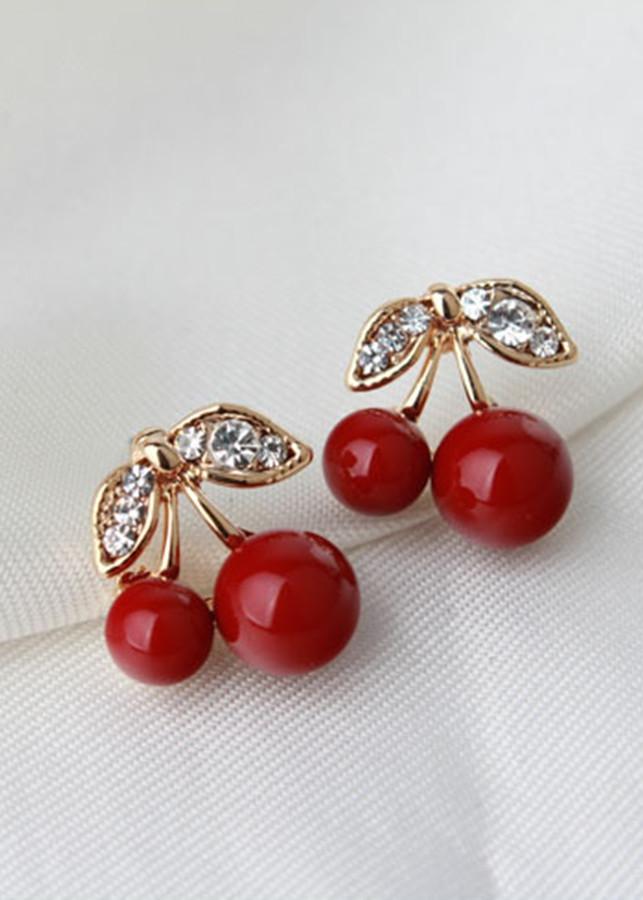 Bông tai trái cherry bt403