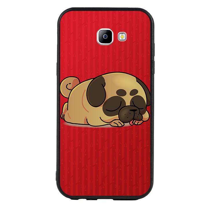 Ốp lưng viền TPU cho Samsung Galaxy A7 2017 - Cute Dog 03