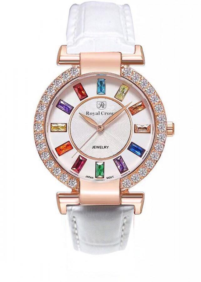 Đồng hồ nữ chính hãng Royal Crown 4604ST - RG trắng - 1400247 , 3077952515026 , 62_7024989 , 3899000 , Dong-ho-nu-chinh-hang-Royal-Crown-4604ST-RG-trang-62_7024989 , tiki.vn , Đồng hồ nữ chính hãng Royal Crown 4604ST - RG trắng