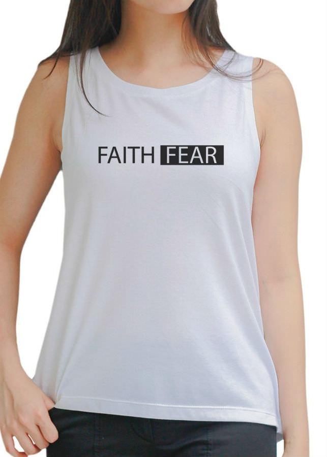 Áo Tanktop Nữ Faith Fear 1 - Trắng