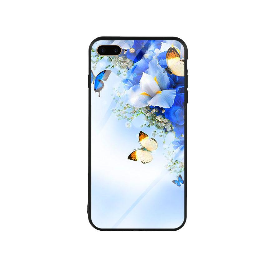 Ốp lưng kính cường lực cho điện thoại Iphone 7 Plus / 8 Plus - Butterfly 04
