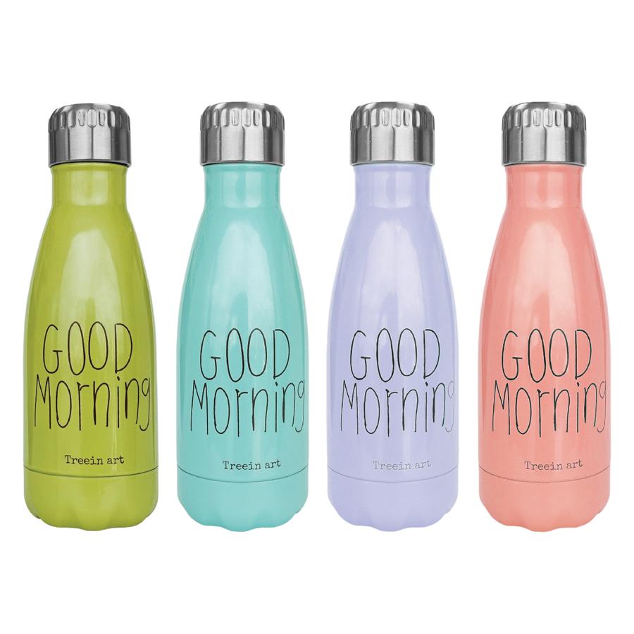 Bình Giữ Nhiệt Cao Cấp Dong Hwa Họa Tiết Chữ Good Morning HC017 (280ml) - Màu Ngẫu Nhiên