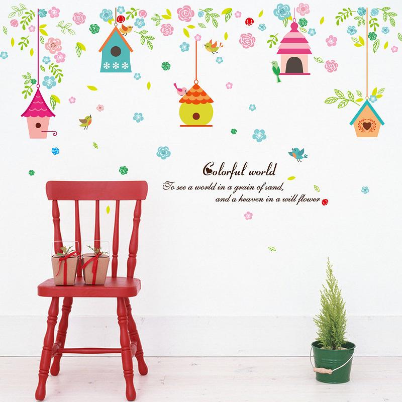 Decal trang trí dán tường hình lồng chim và hoa đầy màu sắc cho bé ZOOYOO SK7094 - 960540 , 7284862161793 , 62_2239295 , 60000 , Decal-trang-tri-dan-tuong-hinh-long-chim-va-hoa-day-mau-sac-cho-be-ZOOYOO-SK7094-62_2239295 , tiki.vn , Decal trang trí dán tường hình lồng chim và hoa đầy màu sắc cho bé ZOOYOO SK7094