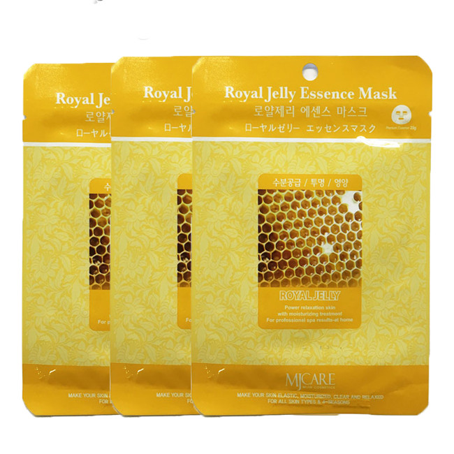 Combo 3 mặt nạ Mj Care Mật ong Royal Jelly Essence Mask