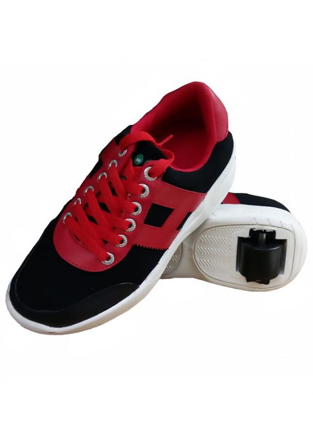 Giày bánh gót An Phát ( 013-05- Đen Đỏ)