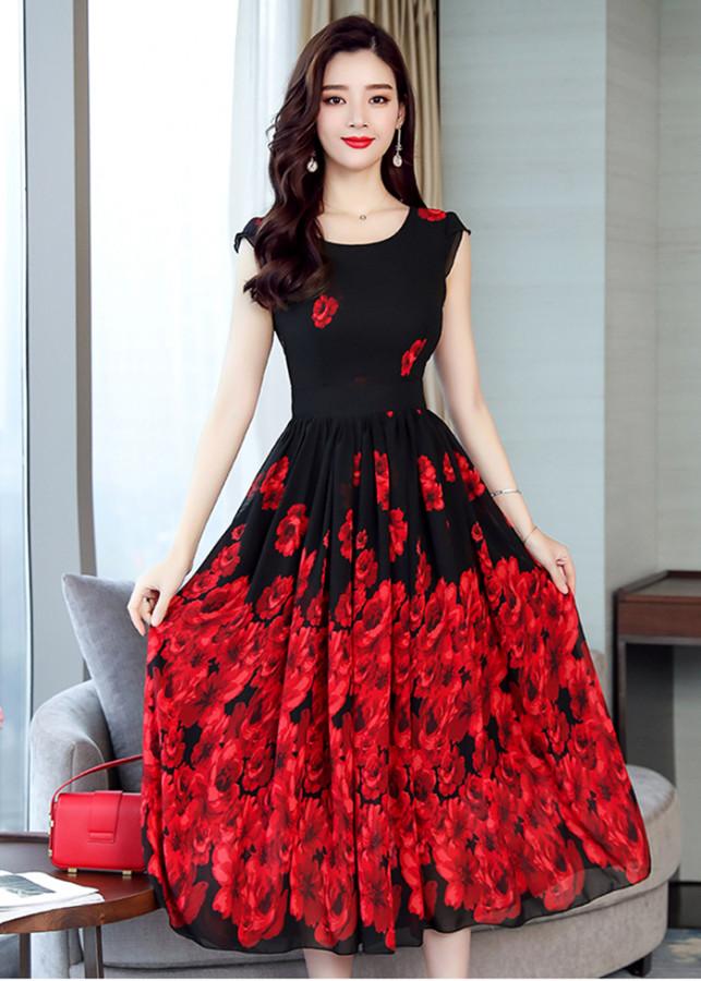 1970679944365 - Đầm Xòe Chân Váy In Hoa Duyên Dáng TT - TGT2014