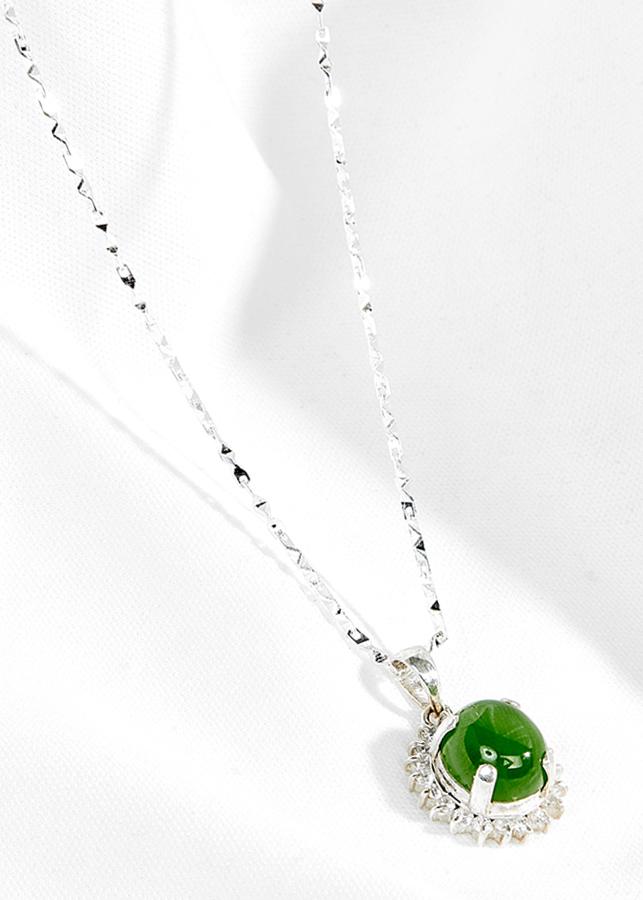 Mặt dây chuyền đá ngọc bích bọc bạc Ngọc Quý Gemstones - 1576204 , 3544289307520 , 62_10320100 , 2990000 , Mat-day-chuyen-da-ngoc-bich-boc-bac-Ngoc-Quy-Gemstones-62_10320100 , tiki.vn , Mặt dây chuyền đá ngọc bích bọc bạc Ngọc Quý Gemstones
