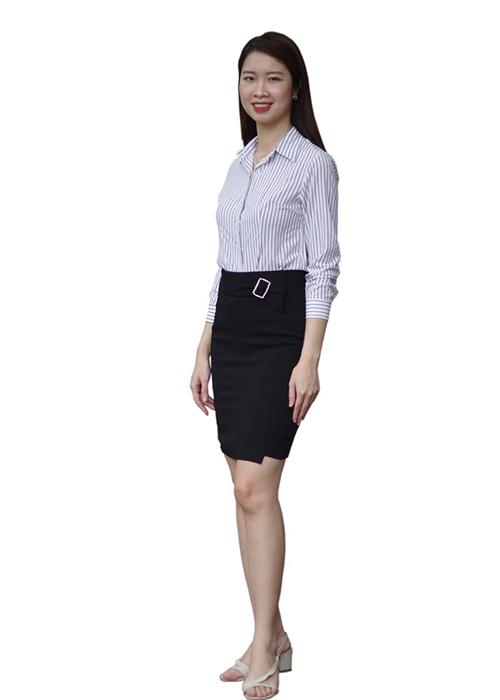 Chân váy ngắn công sở cao cấp chất liệu mát min không nhăn nhàu mã CV2501