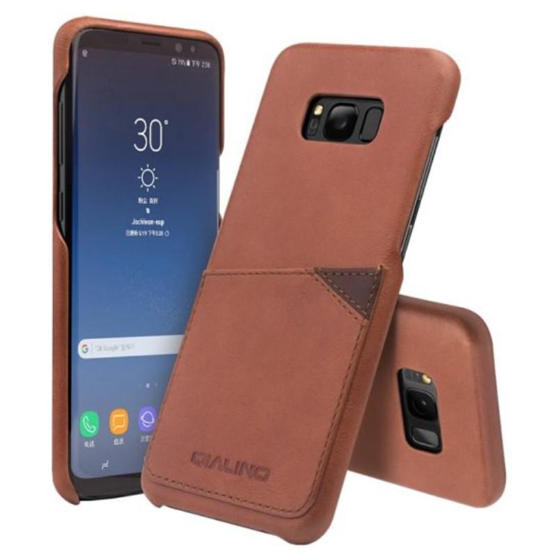 Ốp lưng dành cho Samsung Galaxy S8 Qialino có khe nhét thẻ - Hàng chính hãng