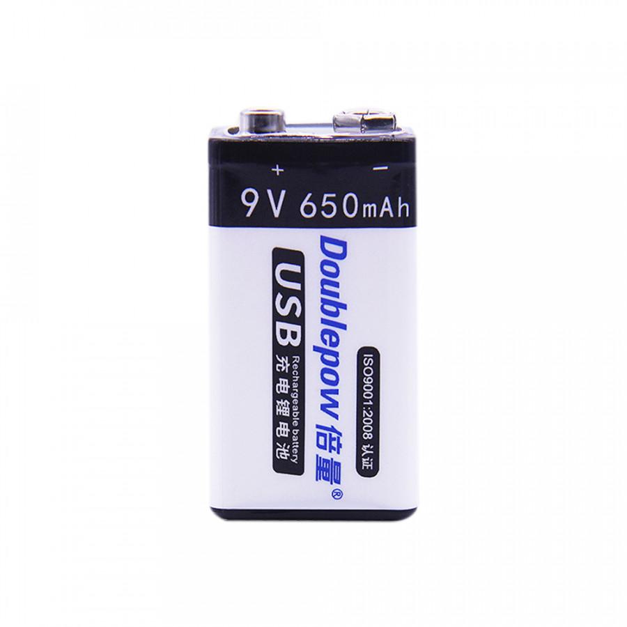 Pin Sạc Cổng Micro USB Doublepow 9V 6F22 650mAh AZONE