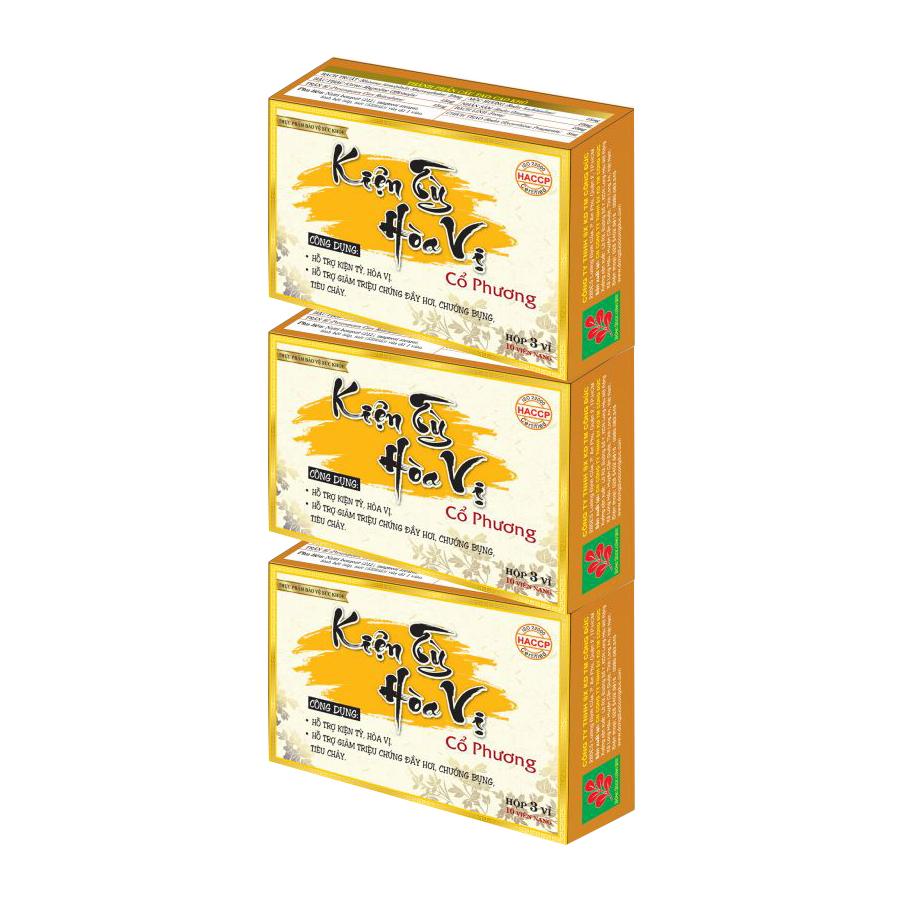 Combo 3 hộp Kiện tỳ hòa vị Công Đức hỗ trợ làm giảm chứng đầy hơi, chướng bụng, tiêu chảy