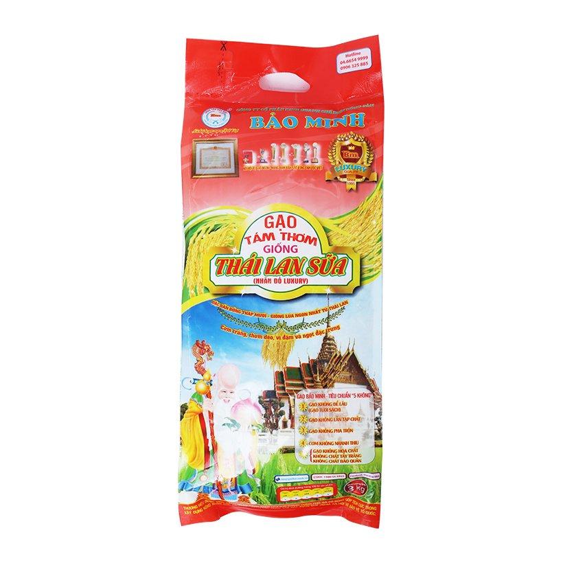Gạo tám thơm giống Thái Lan sữa Bảo Minh 3Kg - 7403707 , 8785486302009 , 62_15348033 , 166000 , Gao-tam-thom-giong-Thai-Lan-sua-Bao-Minh-3Kg-62_15348033 , tiki.vn , Gạo tám thơm giống Thái Lan sữa Bảo Minh 3Kg