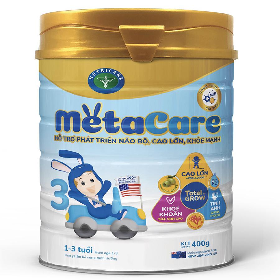 Sữa bột Nutricare Metacare 3 Mới - phát triển toàn diện cho trẻ 1-3 tuổi (400g, 900g) - 959753 , 9972327930203 , 62_5043013 , 151000 , Sua-bot-Nutricare-Metacare-3-Moi-phat-trien-toan-dien-cho-tre-1-3-tuoi-400g-900g-62_5043013 , tiki.vn , Sữa bột Nutricare Metacare 3 Mới - phát triển toàn diện cho trẻ 1-3 tuổi (400g, 900g)