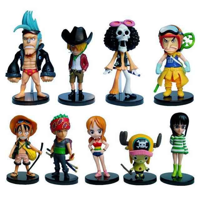 Bộ 09 Mô Hình Nhân Vật One Piece Cao 6-8 cm ( Mẫu 02 )