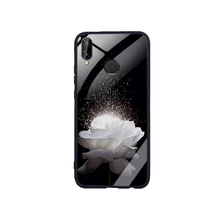Ốp Lưng Kính Cường Lực cho điện thoại Huawei Nova 3e -  0324 ROSE03