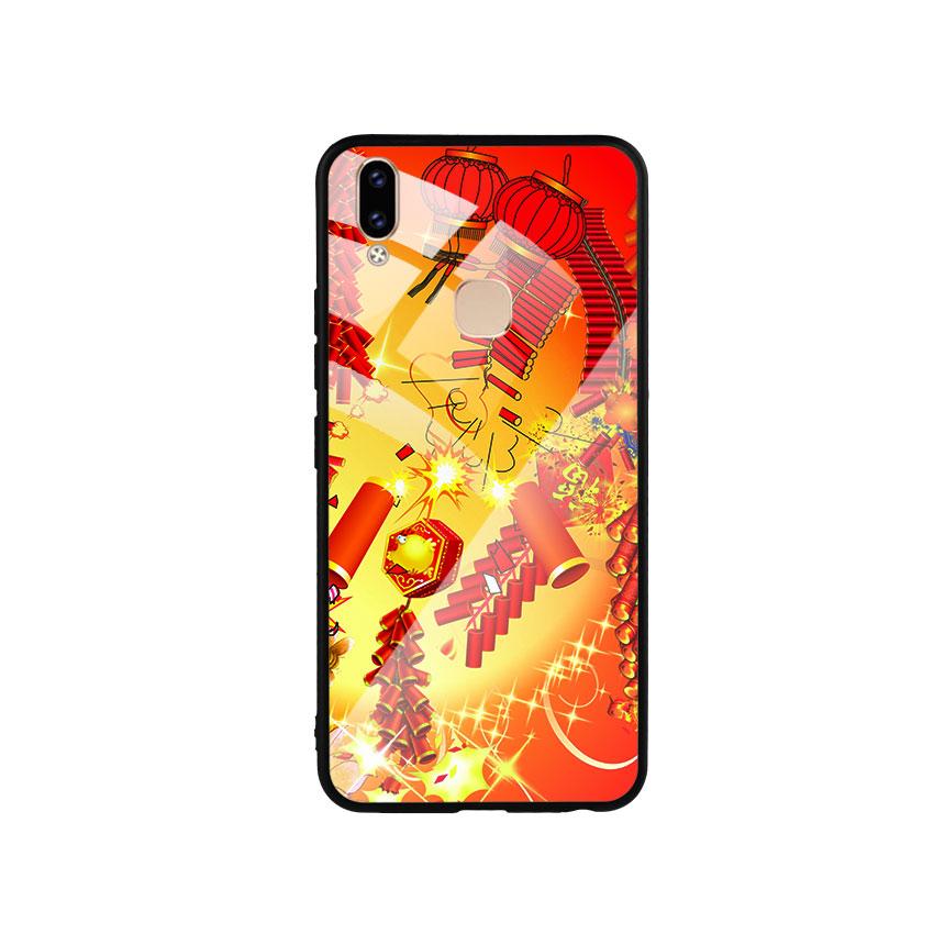 Ốp Lưng Kính Cường Lực cho điện thoại Vivo V9 - Firework 02