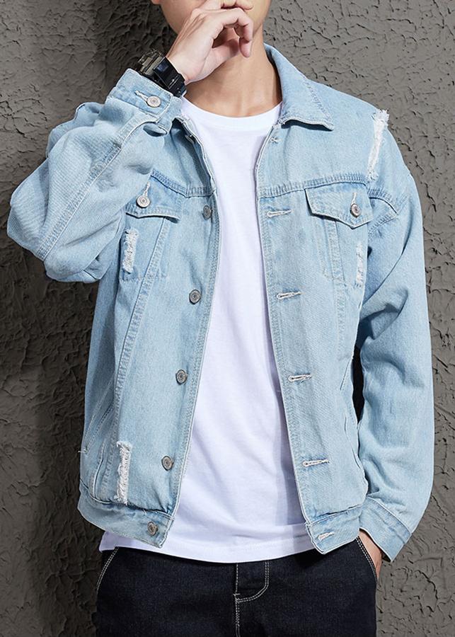 Áo khoác jeans rách nam bò sáng Zavans AJ05
