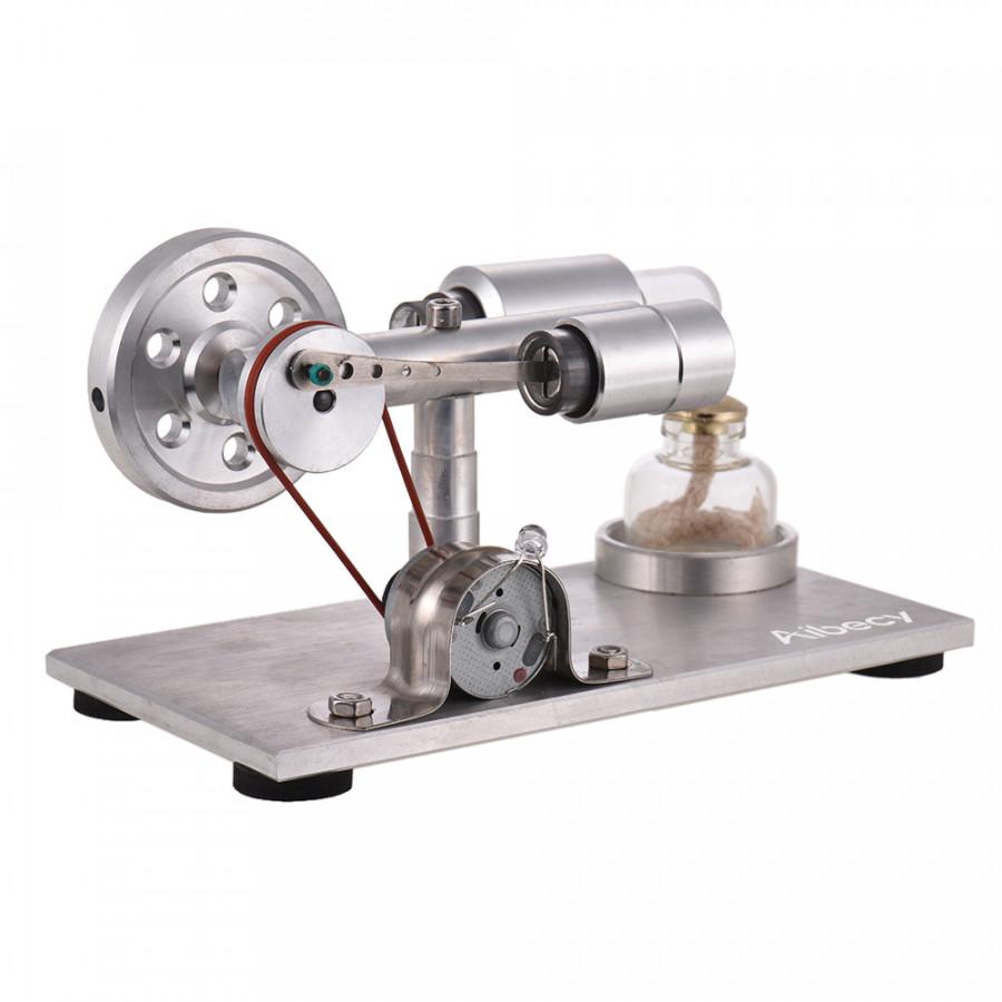 Động Cơ Nhiệt Đốt Ngoài Stirling Aibecy Đèn LED