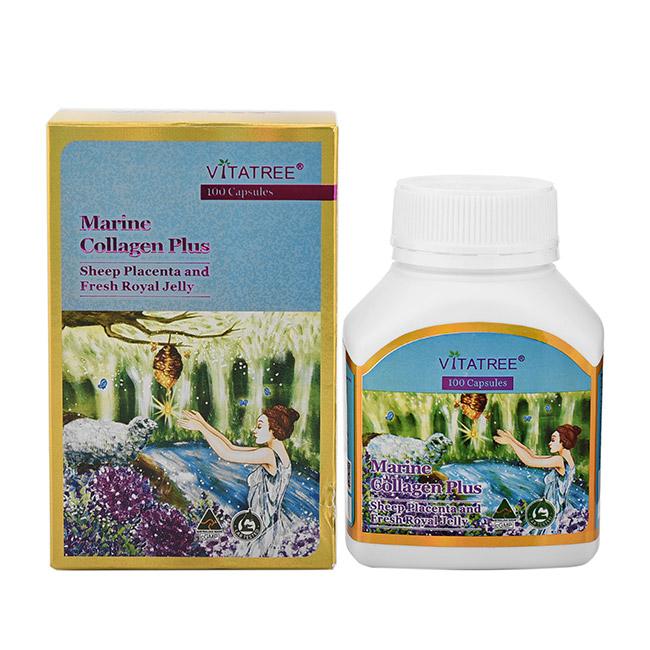 Thực phẩm chức năng: Viên uống Nhau thai cừu và Sữa ong chúa Vitatree Marine Collagen Plus (100 Viên) - Nhập khẩu Australia - 1576287 , 8205380570750 , 62_10322506 , 750000 , Thuc-pham-chuc-nang-Vien-uong-Nhau-thai-cuu-va-Sua-ong-chua-Vitatree-Marine-Collagen-Plus-100-Vien-Nhap-khau-Australia-62_10322506 , tiki.vn , Thực phẩm chức năng: Viên uống Nhau thai cừu và Sữa ong ch