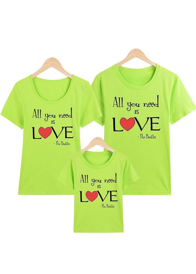 Áo thun gia đình xanh lá ALL YOU NEED IS LOVE -ATNK1103 - 8050183 , 3431739691905 , 62_15750022 , 300000 , Ao-thun-gia-dinh-xanh-la-ALL-YOU-NEED-IS-LOVE-ATNK1103-62_15750022 , tiki.vn , Áo thun gia đình xanh lá ALL YOU NEED IS LOVE -ATNK1103