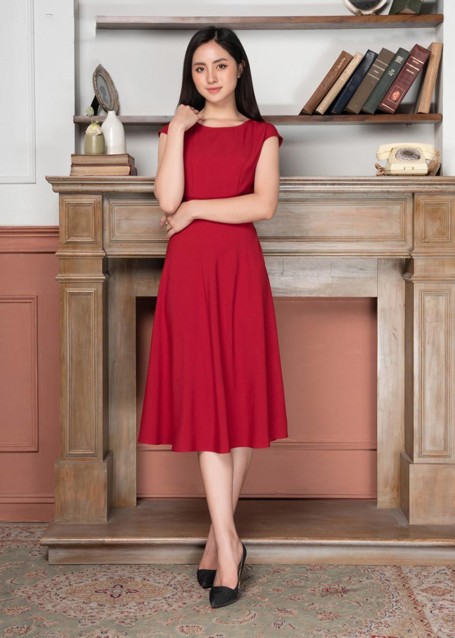 Đầm Mullet phối ren lưng LOZA LD2068