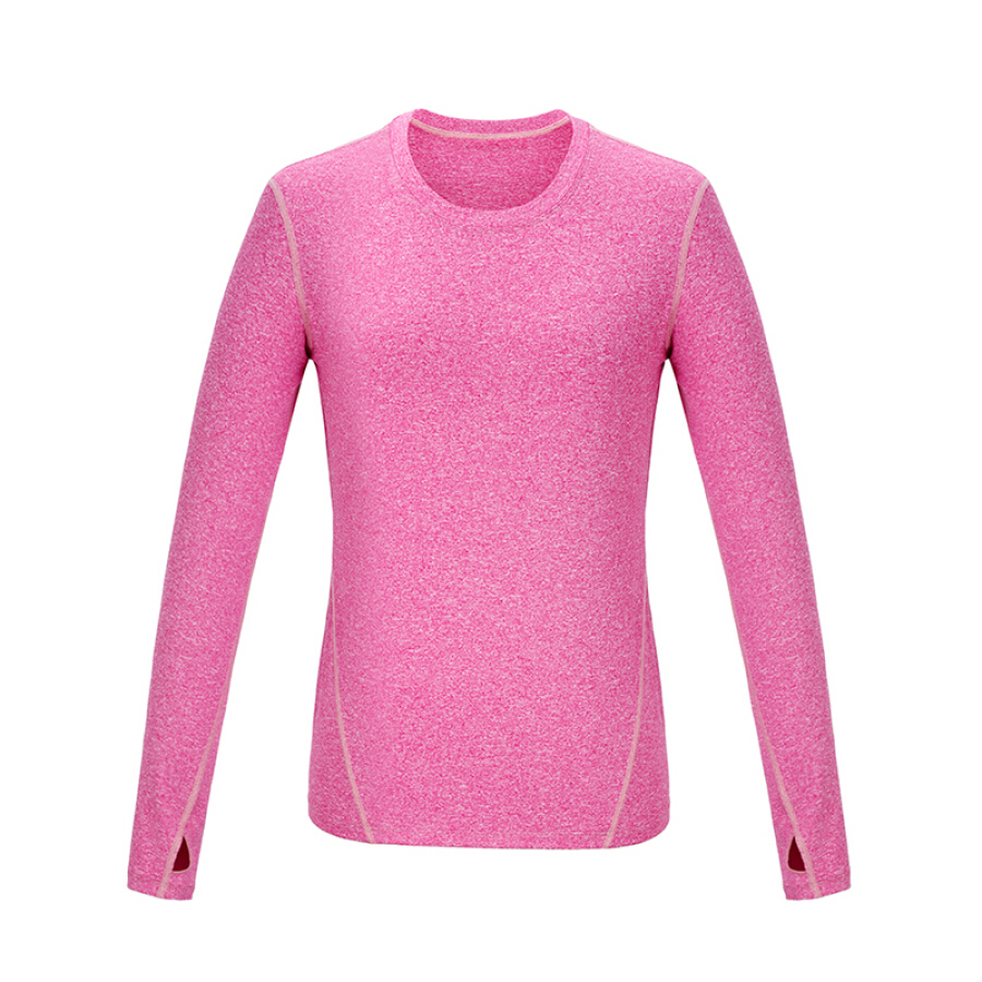 Beijing Tokyo made J.ZAO ladies sports long-sleeved T-shirt vitality dynamic color sports T-shirt gray M