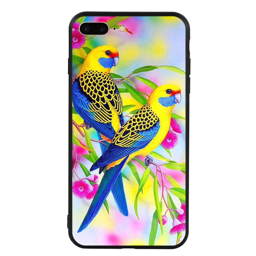 Ốp lưng nhựa cứng viền dẻo TPU cho điện thoại Iphone 7 Plus/8 Plus - Couple Bird