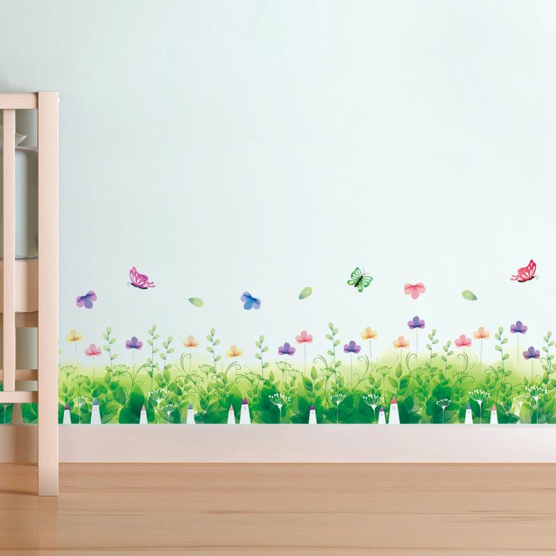 Decal trang trí dán chân tường hình hoa bướm đầy màu sắc cho bé XL7183 - 965034 , 9764372110071 , 62_2292609 , 60000 , Decal-trang-tri-dan-chan-tuong-hinh-hoa-buom-day-mau-sac-cho-be-XL7183-62_2292609 , tiki.vn , Decal trang trí dán chân tường hình hoa bướm đầy màu sắc cho bé XL7183