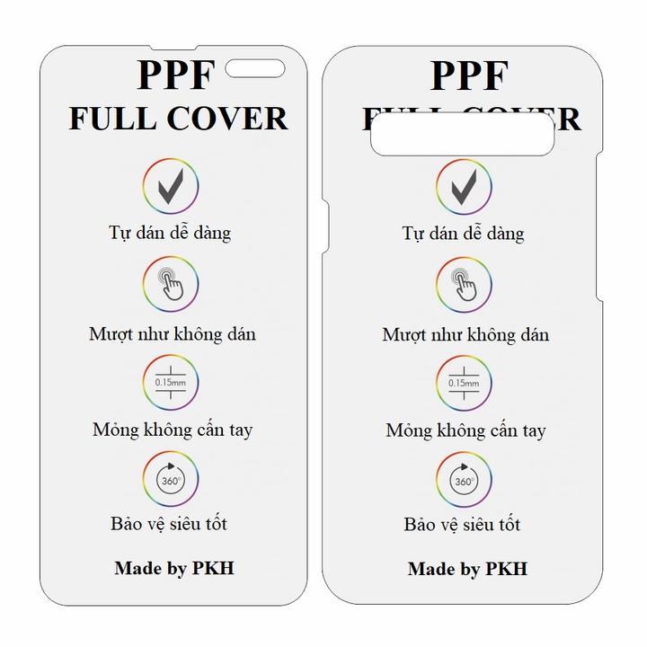 Dán dẻo PPF cho Samsung S10 5G hai mặt