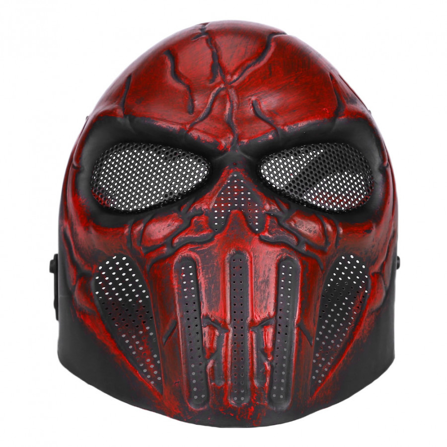Mask Protector Military Red TPR+EVA Skull Mesh Safety