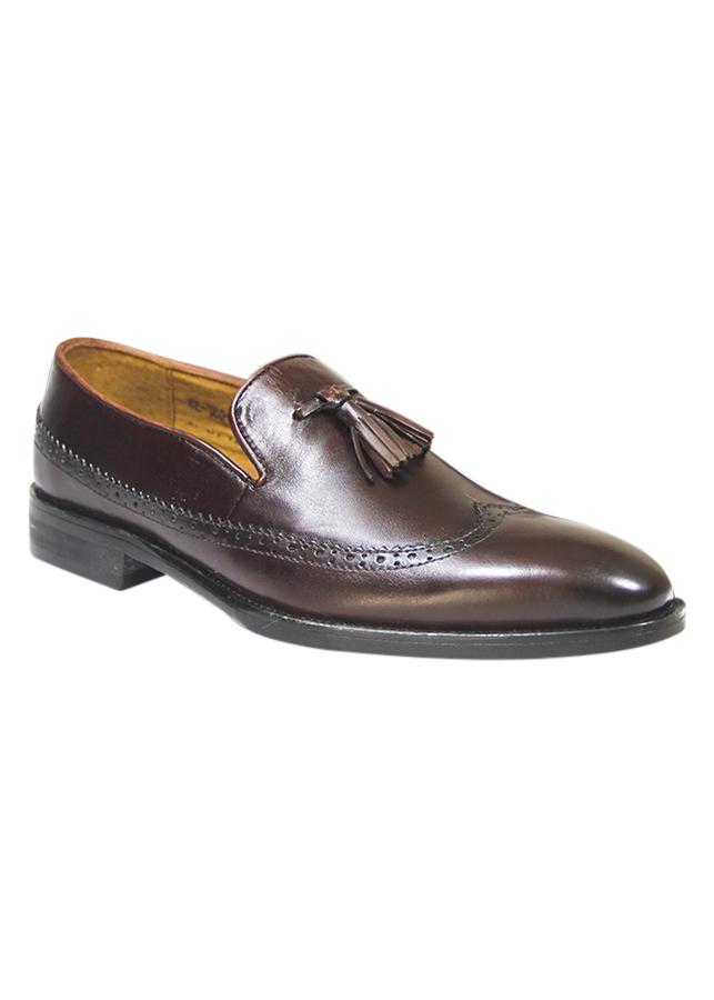 Giày Da Nam Mã Men - 057 Màu Nâu Trơn