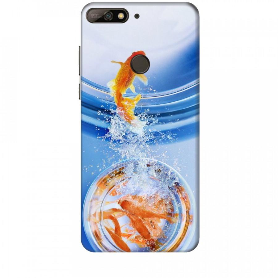 Ốp lưng dành cho điện thoại HuaweiY7 PRO 2018 Cá Betta Vàng
