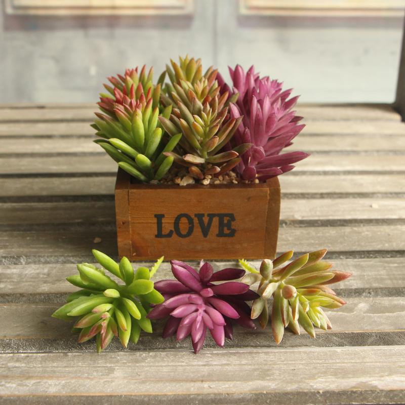 Snowflake Lotus Rare Plants Succulent Grass Artificial Plant Garden Decor