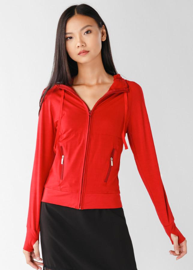 Áo khoác nữ slim 4 túi dây kéo 4044_do