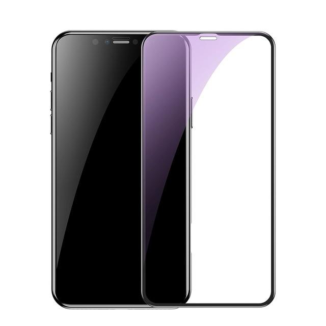 Kính cường lực chống vân tay cho iPhone XS MAX (0.23mm) Baseus curved-screen - Hàng chính hãng