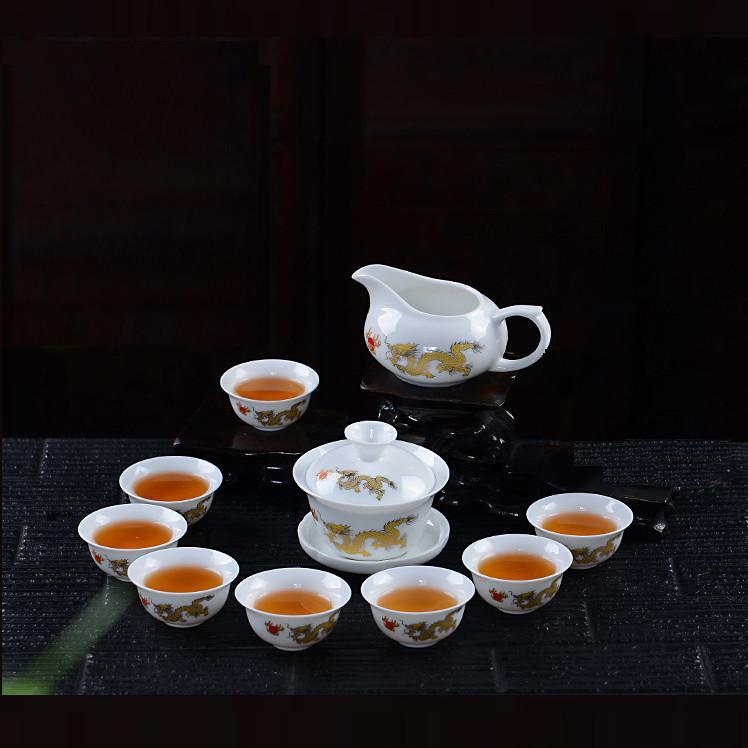 Bộ rót trà Thịnh Thế Tường Long men tráng sứ DRG590310