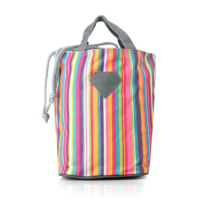 Túi giữ nhiệt living box sọc sắc màu mới