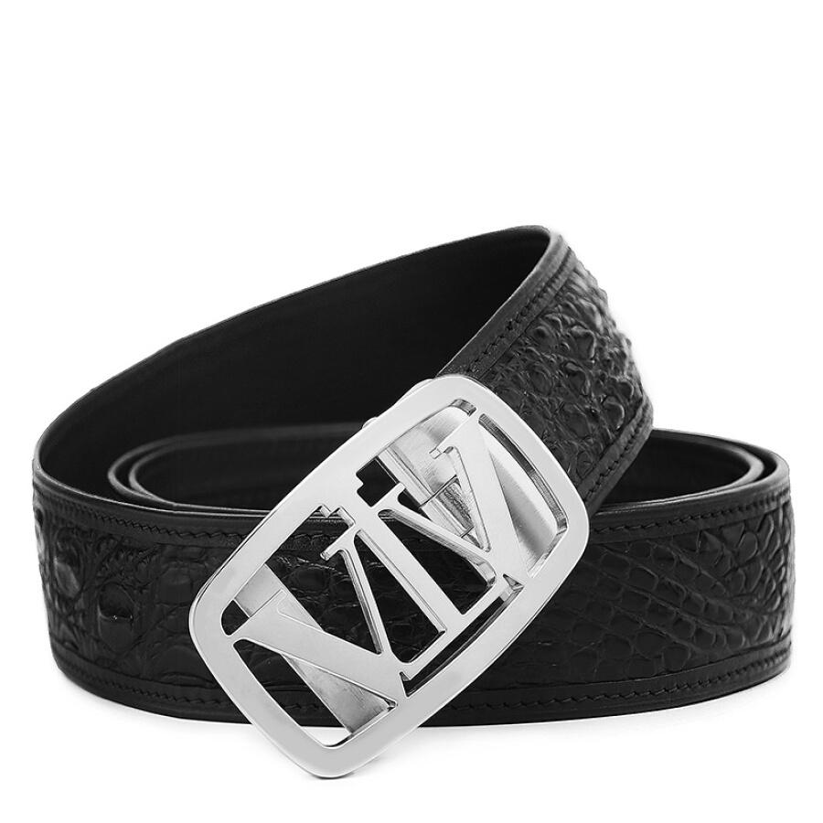 VVBrown belt male crocodile leather belt men