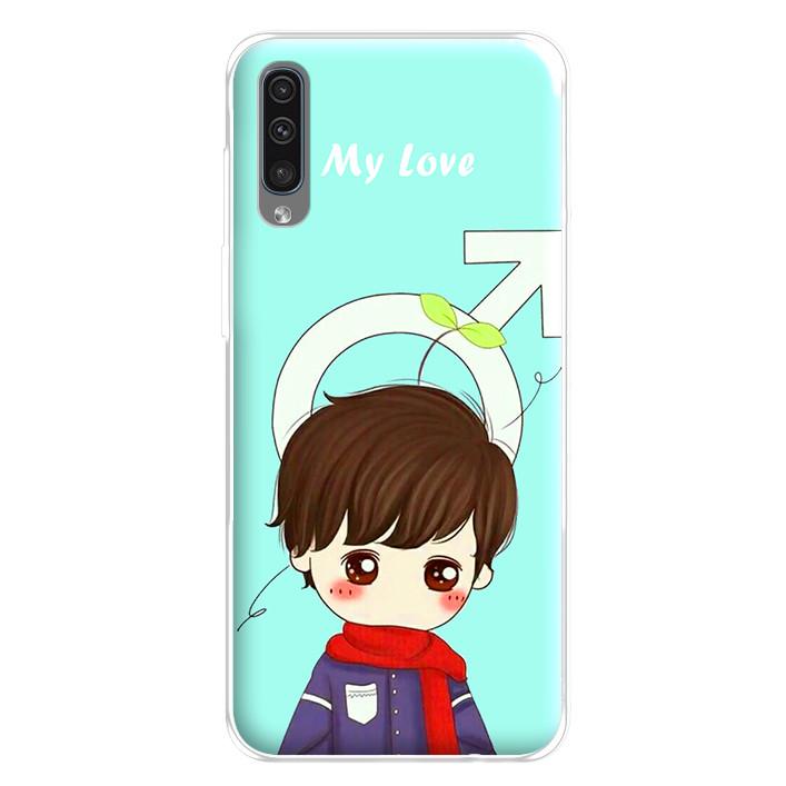 Ốp lưng dẻo cho điện thoại Samsung Galaxy A50 - 224 0042 COUPLEBOY06