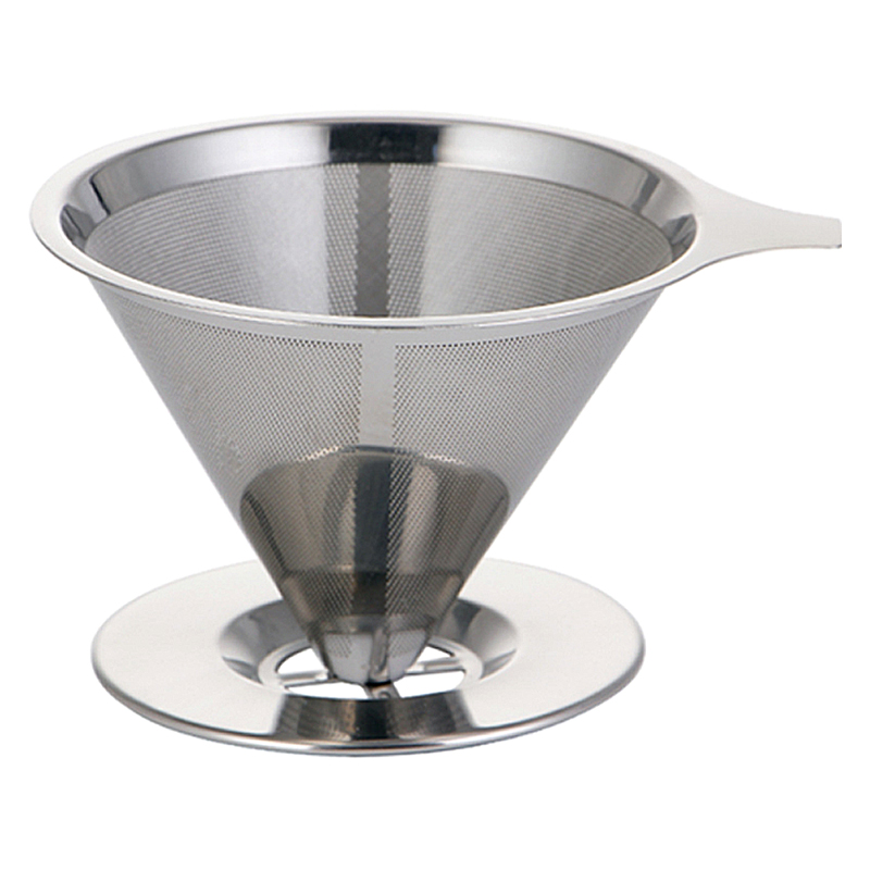Stainless Steel Coffee Filter Pour Over Funnel Brew Drip Tea Metal Mesh Basket Tool Reusable Kitchen Coffeeware Heat